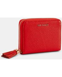 04e06f7b48c786 Ted Baker - Tassel Small Leather Matinee Purse - Lyst