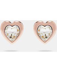 Ted Baker - Han: Swarovski Crystal Heart Earrings - Lyst