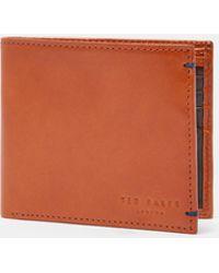 Ted Baker - Bi-fold Leather Wallet - Lyst