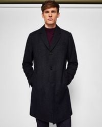 Ted Baker - Herringbone Wool-blend Coat - Lyst