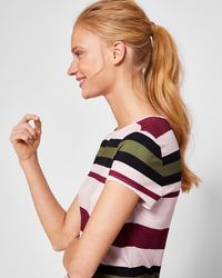Ted Baker   Imperial Stripe Fitted T-shirt   Lyst