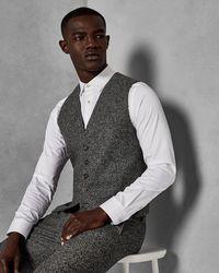 Ted Baker - Semi Plain Wool Waistcoat - Lyst