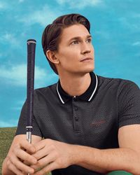 Ted Baker - Golf Tee Pattern Polo Shirt - Lyst