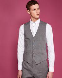 Ted Baker - Debonair Slim Semi Plain Wool Waistcoat - Lyst