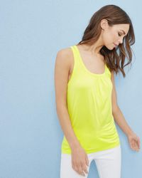 Ted Baker - Gathered Vest Top - Lyst