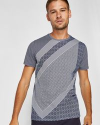 Ted Baker | Cropper Geo Print Cotton T-shirt | Lyst