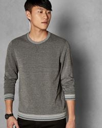 Ted Baker - Jersey Cotton Blend Sweatshirt - Lyst