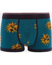 Ted Baker - Flower Print Cotton Boxer Shorts - Lyst
