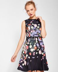 Ted Baker - Kensington Floral Bow Detail Shift Dress - Lyst