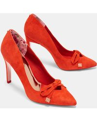 Ted Baker - Suede Bow Detail Courts - Lyst