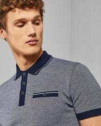 6bea7820a Ted Baker Men s Beeril Stripe Collar Polo Shirt in Blue for Men - Lyst