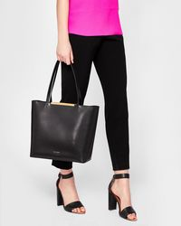 Ted Baker - Large Leather Tote Bag - Lyst