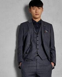 Ted Baker - Sterling Check Wool Waistcoat - Lyst
