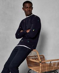 Ted Baker - Embroidered Sweatshirt - Lyst