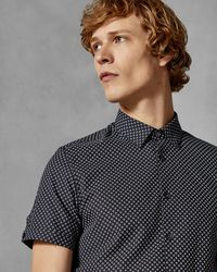 Ted Baker - Geo Print Cotton Shirt - Lyst