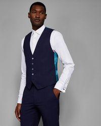 Ted Baker - Debonair Slim Fit Check Waistcoat - Lyst