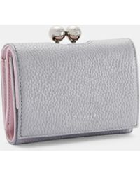 ffe6374c7913 Ted Baker Embellished Crystal Bobble Clasp Clutch in Black - Lyst
