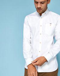 Ted Baker - Cotton Shirt - Lyst