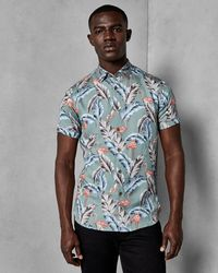 Ted Baker - Flamingo Tropical Shirt - Lyst
