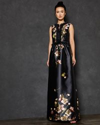 Ted Baker - Arboretum Print Maxi Dress - Lyst