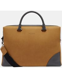Ted Baker - Faux Nubuck Document Bag - Lyst