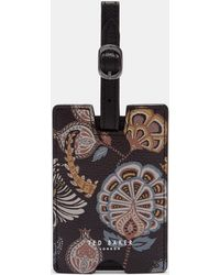 Ted Baker - Printed Leather Luggage Tag - Lyst