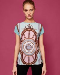 Ted Baker - Versailles Woven Front Tee - Lyst