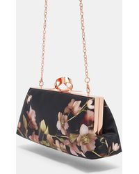 Ted Baker - Artboretum Knotted Clasp Evening Bag - Lyst