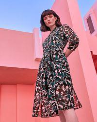 Ted Baker - Crane Print Shirt Dress - Lyst