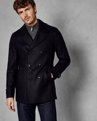 Ted Baker Double Breasted Wool Pea Coat