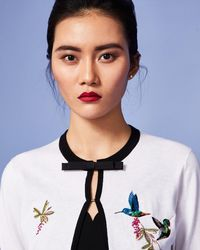 Ted Baker - Highgrove Embroidered Cardigan - Lyst