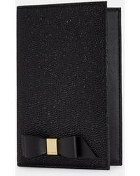3ecc855766efa0 Lyst - Ted Baker Meira Bow Leather Card Holder With Chain in Black