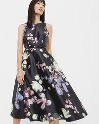 Ted Baker - Kensington Floral Midi Dress - Lyst