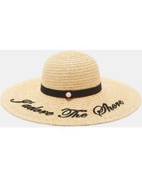 Ted Baker - Embroidered Straw Hat - Lyst