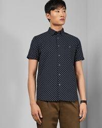 Ted Baker - Small Dot Cotton Shirt - Lyst