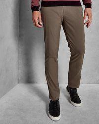 Ted Baker - Brushed Semi-plain Trousers - Lyst