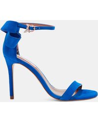 Ted Baker - Oversized Bow Heeled Sandals - Lyst