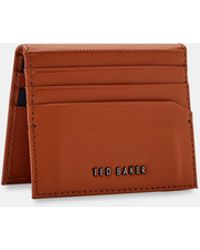 Ted Baker - Micro Perforation Leather Card Holder - Lyst
