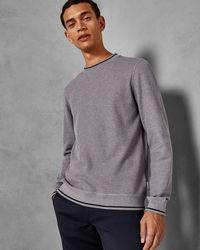 Ted Baker - Textured Cotton Sweatshirt - Lyst
