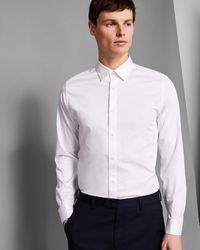 Ted Baker - Satin Stretch Phormal Shirt - Lyst