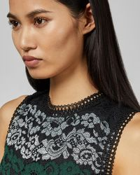 Ted Baker - Color Block Lace Dress - Lyst
