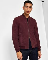 Ted Baker - Suede Bomber Jacket - Lyst