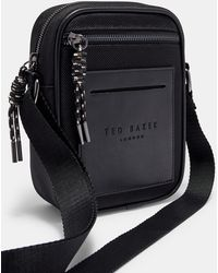 ec730cb5a95a Ted Baker Embossed Flight Bag in Black for Men - Lyst