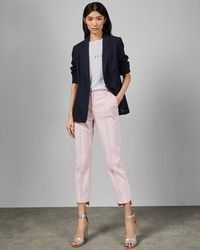 83fd79d85 Lyst - Ted Baker Rivaat Step-hem Slim Pants in Blue