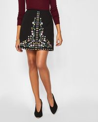 5dda7905a8 Ted Baker - Hampton Court Embroidered Mini Skirt - Lyst