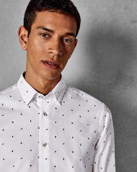 Ted Baker - Fruit Print Cotton Shirt - Lyst