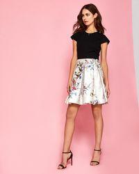 Ted Baker - Opulent Fauna Contrast Skirt Dress - Lyst