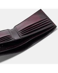 Ted Baker - Burnished Leather Bi-fold Wallet - Lyst