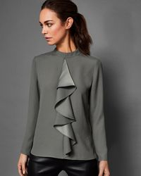 Ted Baker - Ruffle Front Blouse - Lyst