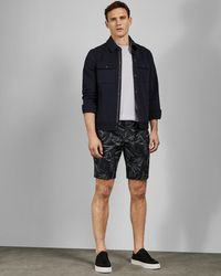 Ted Baker - Chino Short With Leaf Print - Lyst